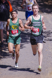 Caleb Richards Senior, Sonoma Academy 4th CMC, 29th NCS V, 3rd Sr Viking, 7th Stanford V, won 2 tri-meets