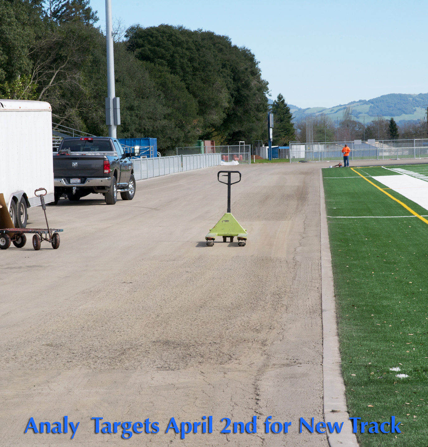 Here is a shot of the Analy track construction as of Feb. 26th.