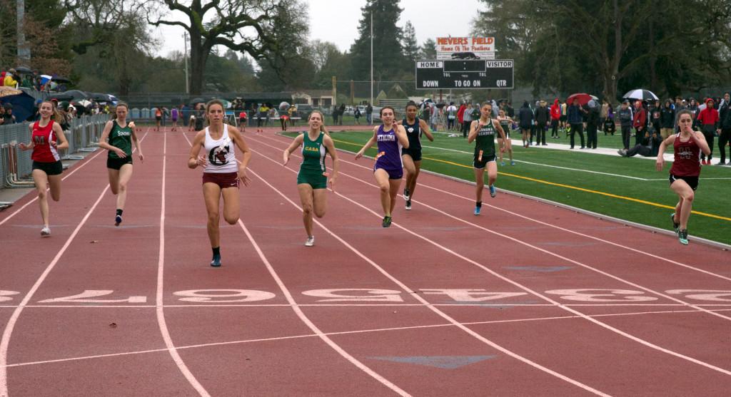 Heat 4 of the 100m by Thomas Benjamin