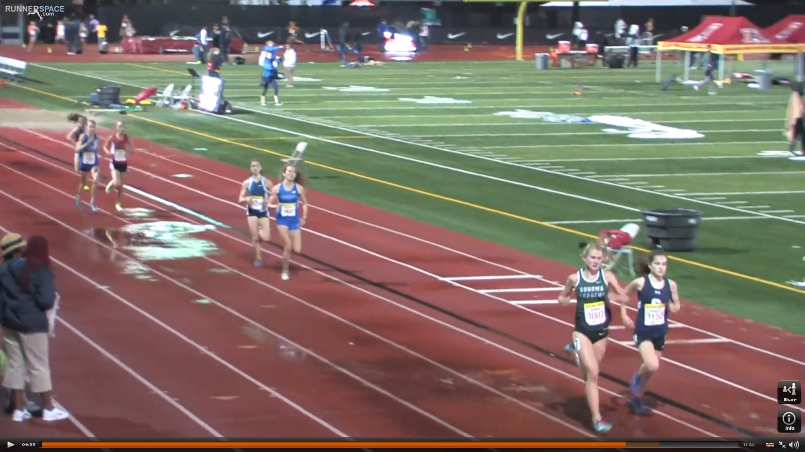 200m to go and Rylee takes the lead from DeBalsi.