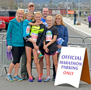Bowen family plus Sean Fitzpatrick and Nika's mom after the 2014 Napa Valley Marathon and 5k. By Thomas Benjamin