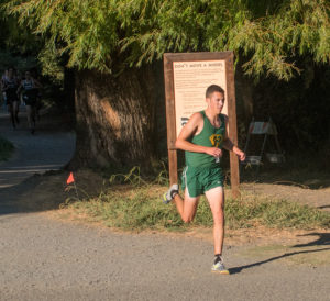 Zach Esponda leading at 1.2 mile mark.