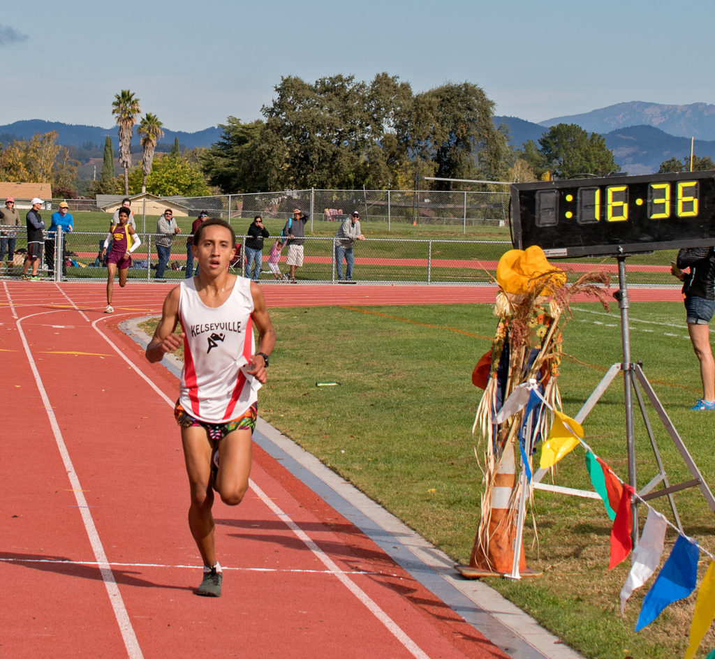 2nd was Soph. Andre Williams of Kelseyville in16:36
