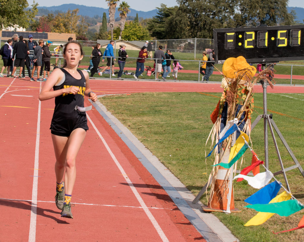 5th place, Novato's Maya Virshup in 21:51